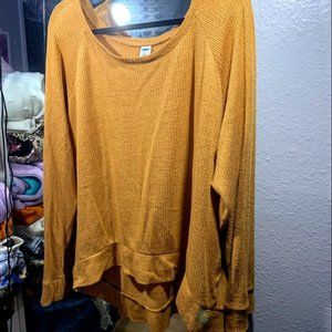 Mustard Yellow Light Sweater